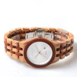 2018 OEM-Fashion Man женщин Логотип оптовой водонепроницаемый дерева бамбук кварцевые часы на запястье