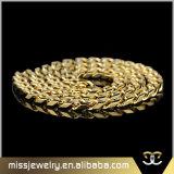 18K ожерелье Mjcn044 цепи соединения нержавеющей стали золота 316L кубинское
