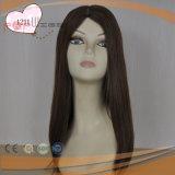Parrucca superiore di seta delle donne dei capelli del Virgin (PPG-l-0592)
