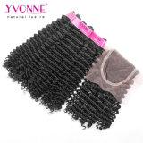 イボンヌのヘアケア製品の閉鎖が付いている100%年のバージンの人間の毛髪の束