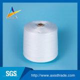 Hilados de polyester reciclados blancos sin procesar para tejer y hacer punto