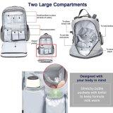 수직 지퍼를 가진 중국 기저귀 아기 기저귀 책가방 휴대용 퍼스널 컴퓨터 부대