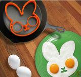 FDA/Certification frió las herramientas Silicón-Shaped de la cocina del molde del anillo del molde de la galleta de la estrella del molde del huevo (XY-EG-CD)