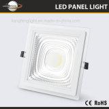2018 La Plaza de actualización de aluminio y vidrio de 15W Downlight COB Panel LED LUZ
