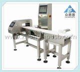Detector de metales y verificar Weigher Combo utilizadas en los alimentos industriales