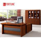 أثر قديم أسلوب تنفيذيّ جلد أعلى مكتب طاولة مع جانب طاولة