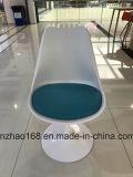 백색 회전 의자 금속 프레임 의자