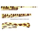 容易な使用ヘアーサロンおよびホームのためのこはく色カラー毛の櫛