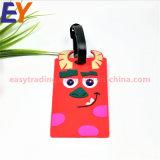 Custom 3D da etiqueta de bagagem de silicone macia bolsa de borracha/Tag/PVC Sala