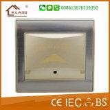 Feito no interruptor elétrico inoxidável do aço 1gang do metal de China