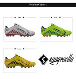 Commerce de gros jaune Mens Outdoor gazon Soccer Cleats chaussures de football