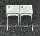 Metaboliza Condensador de película de tipo de cuadro de Condensador de película de Polipropileno Cbb21b Mob
