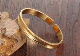 女性のお母さんのギフトのための簡単な金の入り口のブレスレット及び腕輪の方法輝いた終わりの反アレルギーのブレスレット