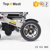 Equipo médico un botón precios silla de ruedas eléctrica plegable