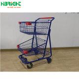 PP amovible en plastique panier Chariot de supermarché pousser commerciale Double Decker sur le fil Panier