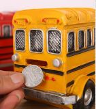 Kundenspezifische Polyresin Bus-Münzen-Bank oder Geld-Bank