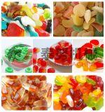 Linha automática cheia dos doces da geléia