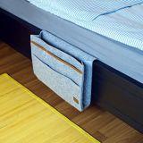 """Carrello del lato del letto di Kenley - organizzatore della casella di memoria del pannello esterno della base per la camera da letto, la stanza del dormitorio dell'istituto universitario, la cuccetta o le basi del granaio, sofà - sotto il sacchetto 9 """" X12 """" del supporto del materasso per il libro, L"""