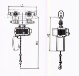 Fornitore elettrico della gru Chain di BACCANO 2m