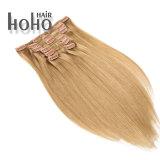 Capelli di Remy del brasiliano di 100% una clip bionda da 20 pollici in capelli umani per la donna