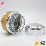 Vaso di vetro cosmetico di alluminio dorato
