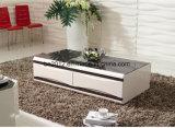 새로운 디자인 높은 광택 MDF 유리제 커피용 탁자 (CJ-147A) 거실 세트