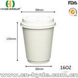 12oz de café de papel de pared doble vaso de papel para llevar