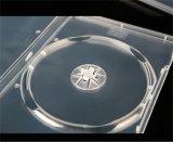 Casella 14mm di caso DVD del coperchio DVD di DVD singolo tutta la radura trasparente (YP-D801Y)