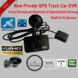 Came nova do traço do carro 2.7inch com o GPS que segue a câmera pelo playback de Google Mapa, gravador de vídeo DVR-2709 do traço do carro da rota de Digitas do carro do registador do GPS