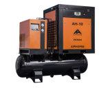 Compressor de ar combinado silencioso do parafuso 7.5kw com tanque e secador