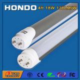 Lámpara del tubo de la venta los 4FT 1200m m 18W 120lm/W LED de la fábrica con 3/5 año de garantía