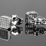간단한 남자 다이아몬드 스테인리스 은 귀걸이 보석