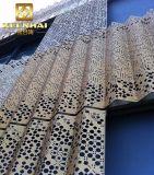 Panneaux de mur ondulés coupés par laser artificiels de modèle de panneau