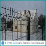 Cerca soldada cubierta PVC plegable 3D del acoplamiento de alambre de la paredilla