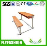高品質の学校家具の倍人学生の机および椅子(SF-47D)