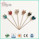 공상 수정같은 나비 모양 헤드 금속 결혼식 브로치 Pin