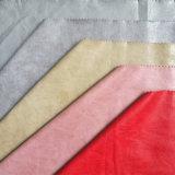 Высокое качество велюр обратно по пошиву одежды Одежда куртка PU синтетическая кожа (GS03)