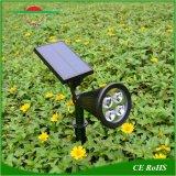 4LEDs 조정가능한 태양 잔디밭 정원 벽 램프는 옥외 조경을 스포트라이트로 비춘다