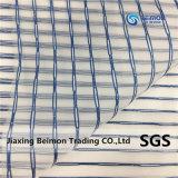 Wellen-Streifen-Organza mit silbriger Zeile, Tulle, dünn, Form
