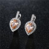 多彩で創造的な石造りの真鍮の宝石類のイヤリング(544124634739)を持つ女性のための中心の形の方法宝石類