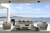 Садовой мебелью располагается удобный диван в саду (TG-010)