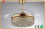 Con Lotus forma Lampshade para Control de la luz del ventilador de mercado de EE.UU. El interruptor del atenuador 36/52 pulgadas luces LED ventilador de techo
