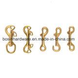 固体真鍮のイセエビの止め金のスナップのホック