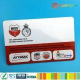 Carte de fidélité d'adhésion d'IDENTIFICATION RF de PVC FM11RF08 de plastique d'impression