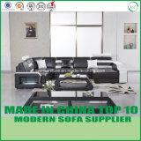 Sofá de couro moderno/Loveseats da mobília de madeira à moda