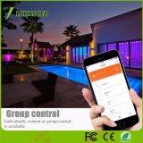 2m 10W proyector RGB LED resistente al agua (IP65) Smart WiFi por parte de la luz de escenario al aire libre discoteca