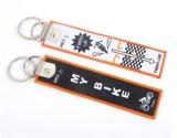 Öse Overlock Gewebe Keychain für Gepäck-Marke mit Metalschleife
