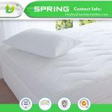 Cubierta ajustada acolchada el 100% impermeable bacteriana del protector del colchón del ácaro anti del polvo