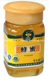 Una etiqueta en los 3 lados de la máquina de etiquetado de botellas de mermelada miel