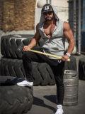 Gilet de vêtements de sport de dessus de gymnastique de T-shirt d'usure de forme physique pour les hommes